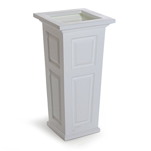 Mayne 4833-W Nantucket Polyethylene Planter, White
