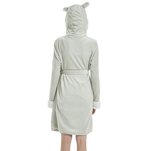 corallo Animale assorbenza e M Camicie da Pigiama Hibote Cosplay di 6 con Donna cappuccio Pigiama Pile Robe Sleepwear bene Pigiamone Felpa morbido Notte S6EnA8U