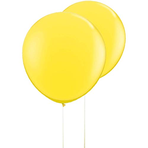 AZOWA Gaint Round Balloons Yellow Large Party Balloon Big Round Latex Balloons for Party Decorations 6 pack 36 inches