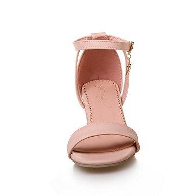 Robusto pink Mujer Rosa Tacón Confort LvYuan Confort Semicuero cms Verano blushing Gladiador Vestido 7 Gladiador Blanco Sandalias Azul Casual 5 1HHPqwdxf