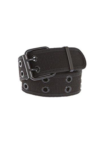 Two-Row Black Grommet Belt - Grommets Two Row