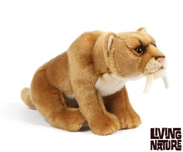 Amazon Com Sabre Tooth Tiger Plush Soft Toy By Living Nature 30cm