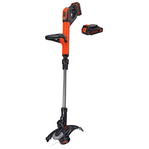 BLACK+DECKER LSTE525 20V MAX Lithium Easy Feed String Trimmer/Edger with 2 Batteries from BLACK+DECKER