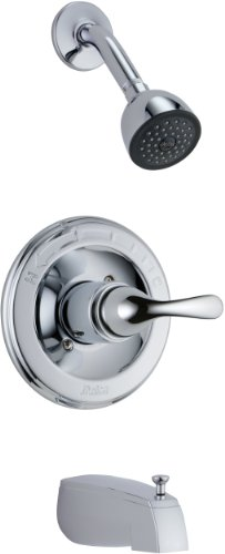 13 Series Chrome Trim Shower - Delta Faucet T13420-DPE Classic, MonitorR 13 Series Tub and Shower Trim, Chrome