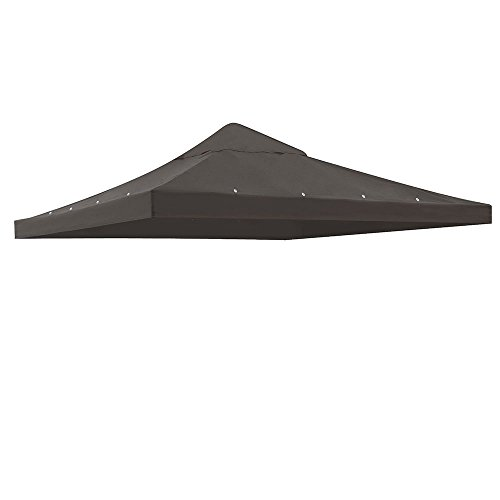 Nice Koval Inc. 10' x 10' Replacement Gazebo Canopy Awning Roof Top Waterproof 200g Canvas (Coffee) for cheap