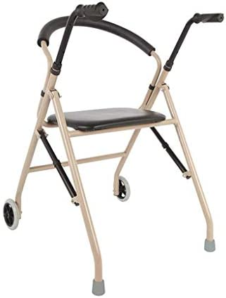ZXCMNB Rollator Walker, Klapp-Walker for Senioren, Senioren, Erwachsene, Behinderte, Leichter, Langlebiger, Medizinischer Walker (Color : Brown)