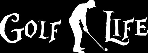 CCI Golf Life Decal Vinyl Sticker|Cars Trucks Vans Walls Laptop| White |7.5 x 3 in|CCI1056