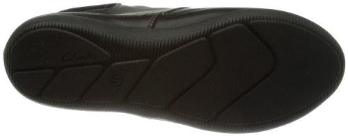 Clarks Naden Bee GTX 20355629 Damen Schnürhalbschuhe Schwarz (Black Leather)