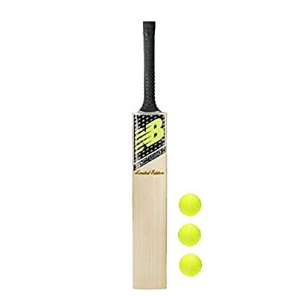 Buy Pmg Wood Junior Cricket Bat Size 2 With 3 Tennis Balls For 6 7