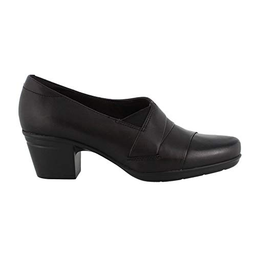 CLARKS Women's Emslie Warbler Black 9.5 C US C - Wide