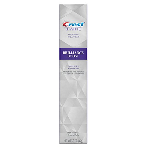 Crest 3D White Brilliance Boost Fluoride Free Polishing Treatment, Finishing Mint, 3 oz, Pack of 3 (Crest White Strips Once Or Twice A Day)