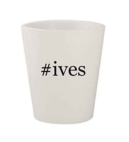#ives - Ceramic White Hashtag 1.5oz Shot Glass