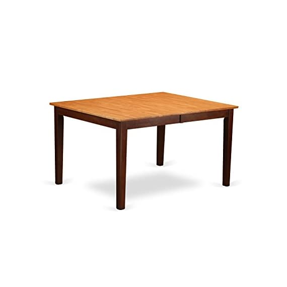 "East West Furniture HET-ESP-T Henley Table-Oak Table Top and Mahogany Finish Attractive 4 Legs Solid wood Structure modern Dining Table - Henley Rectangular Dining Room Table 42""x72"" With 18"" Butterfly Leaf - Cinnamon-Espresso Finish 100% solid wood from table top to table legs. No heat treated pressured wood like MDF, particle board or verneer  top fabricated Length 54/72; Width 42; Height 30 - kitchen-dining-room-furniture, kitchen-dining-room, kitchen-dining-room-tables - 31NiCOUX5dL. SS570  -"