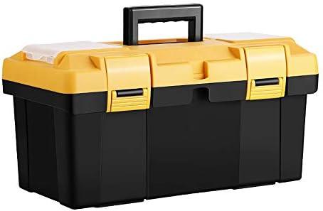 ChenCheng 工具収納ボックス肥厚型家庭用多機能収納ボックス緑の携帯道具箱電気自動車修理多層部品箱 ツールボックスストレージと組織 (Size : 41X21X21CM)