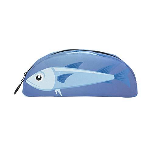 Pencil Case A Whale School Pen Pouch Office Zippered Makeup Bag Holder