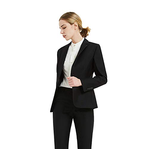 Women Business Suit Set for Office Lady Two Pieces Slim Work Blazer & Pant ()
