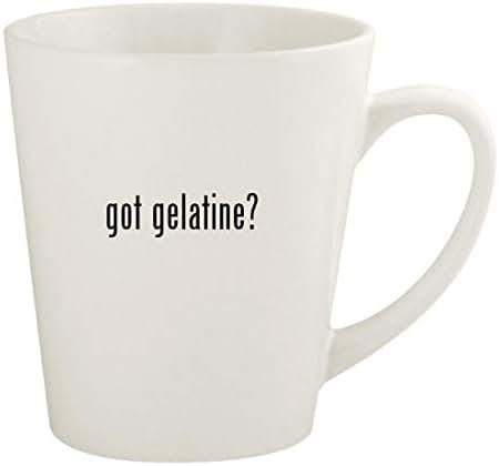 got gelatine? - 12oz Ceramic Latte Coffee Mug Cup, White