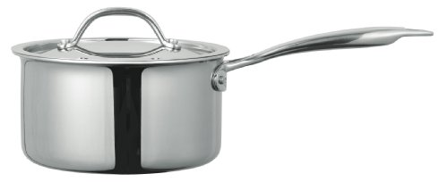 Cuisinox POT-416 Super Elite 2 Quart Tri-Ply Bonded Covered Saucepan, Stainless Steel
