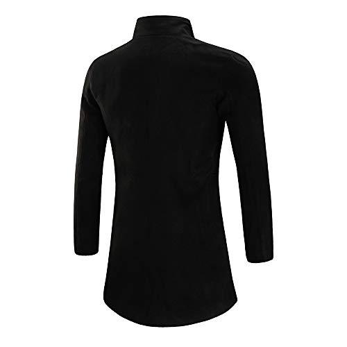 Long Autunno Giacchetta Smart Fortan Miss Giacca Button Black Outwear Warm Cappotto Da Trench Winter Inverno Overcoat Coats Giubbotto piumino Uomo Invernale n6wFzwdq0T