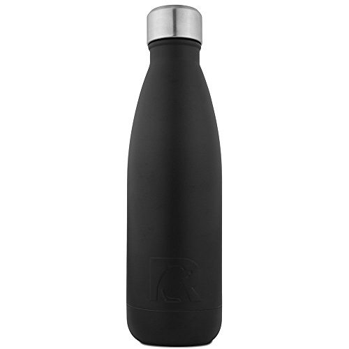 RTIC Double Wall Vacuum Insulated Water Bottle, 17 oz, Black