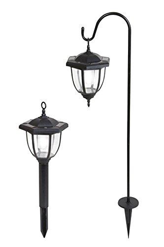 (Yards & Beyond Dual Use Coach Style Solar Lights - 2 Pack)