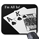 Personalized I'M All In! Texas Hold 'Em Poker Mousepad Mousepad Support For Wireless Mouse Optical Mouse Durable Office Accessory And - Cordless Desktop Optical