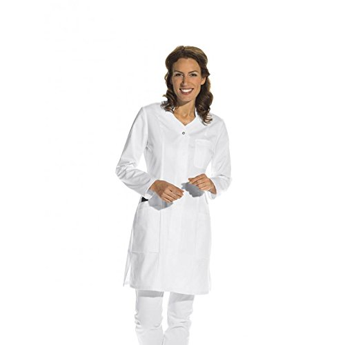 Bata de señora, blanco, manga larga (36)