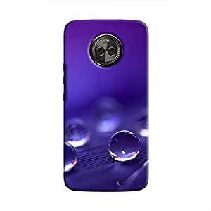 Cover It Up - Purple Drops Moto X4 Hard Case