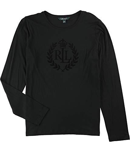 Lauren Ralph Lauren Crown Logo Tee (Black, L) ()