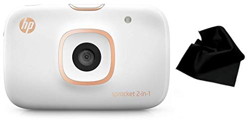 HP Sprocket 2-in-1 Portable Photo Printer & Instant Camera (2FB96A) with Bonus Microfiber Cleaning Cloth