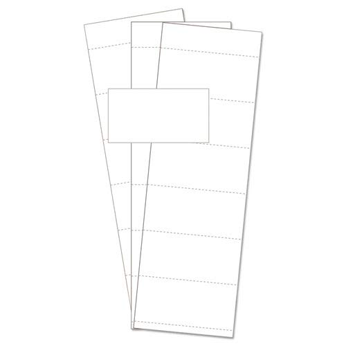 Data Card Replacement, 3''''w x 1 3/4''''h, White, 500/PK, Sold as 500 Each
