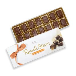 Russell Stover Dairy Cream Caramels Box 10 Ounce Russel Stover Candy, Sweet Dairy Caramel and Chocolate Covered Candy Box, Chewy Buttery Caramel Covered In Smooth Chocolate Candy in a Gift Box -