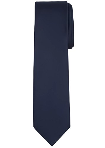 Jacob Alexander Solid Color Men's Regular Tie - Navy (Regular Tie End)
