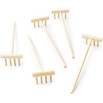 mini zen garden rake set 5 identical small bamboo rakes for desktop or tabletop. Black Bedroom Furniture Sets. Home Design Ideas
