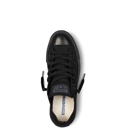 Samtala Unisex Kastar Taylor All Låg Topp Svarta Monokroma Sneakers - 10 Män = 12 Kvinnor