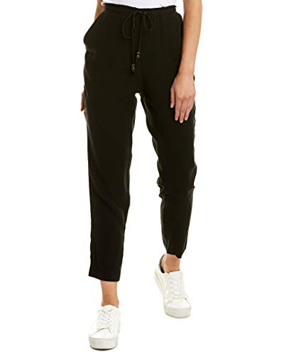 BCBGeneration Women's Front-Tie Shirred Pant, Black, L from BCBGeneration