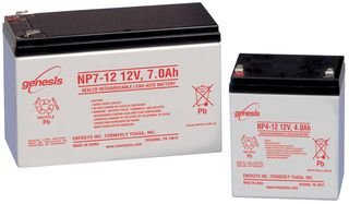 ENERSYS NP2-12 LEAD ACID BATTERY, 12V, 2AH