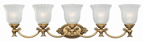 Hinkley Brass Light Fixture (Hinkley 5585BB Traditional Five Light Bath from Francoise collection in Brassfinish,)