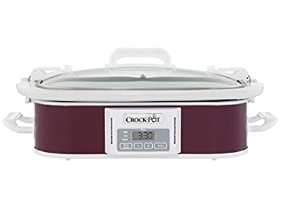 Crockpot SCCPCCP350-CR Programmable Digital Casserole Crock Slow Cooker, 3.5 quart, Plum