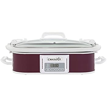 Crock-Pot 3.5-Quart Programmable Digital Casserole Crock Slow Cooker, Plum