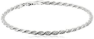 Sterling Silver 060-Gauge Diamond-Cut Bracelet from Amazon Collection