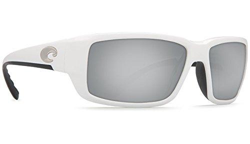 Costa Del Mar Fantail 580P Fantail, White Silver Mirror, Silver - Fantail Silver Mirror Del Mar Costa