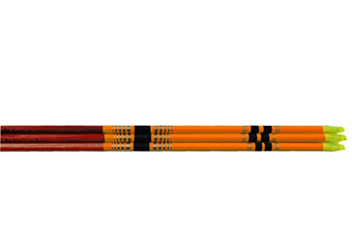 Rose City Archery Port Orford Cedar Fancy Crown Dipped, Crested And Nocked Shafts (6 Pack), 5/16