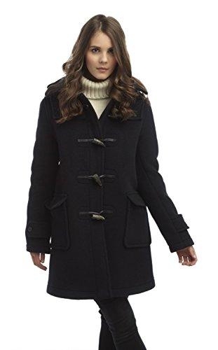 - Womens London Luxury Duffle Coat (12, Navy)