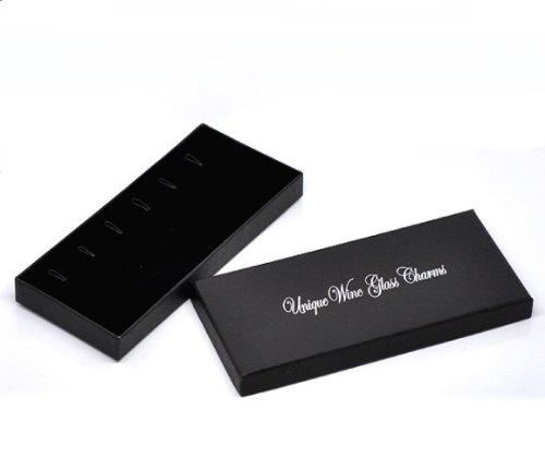 Set von 6/Welt Wein Glas Charms mit Geschenkbox von Libby s Market Place ~ Vom UK Anbieter