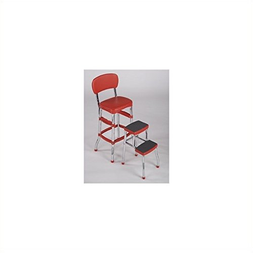 Cosco Retro Counter Chair Step Stool Red New Ebay