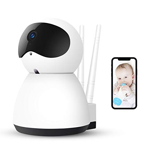 Wireless Security Camera,AOGE Baby Monitor 1080P WiFi Home Security Surveillance IP Camera with Free Cloud Storage(one Month),Pan/Tilt/Zoom,Two Way Audio,Motion Detection Night Vision (1080 P)