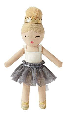 Mud Pie Dream in Glitter Baby Girl Ballerina Toy Rattle 7.5