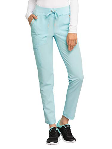 Cherokee Statement CK055 Women's Mid Rise Straight Leg Drawstring Pant Clearwater M ()