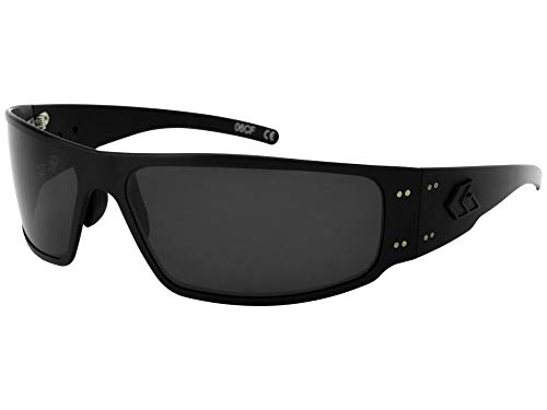 Magnum Mens - Gatorz Eyewear, Magnum Model, Aluminum Frame Sunglasses - Blackout Tactical Style/Smoked Polarized Lens